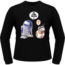T-Shirts à manches longues  parodique BB-8 et R2-D2 : BB, je suis ton père (Super Deformed Edition) (Parodie )
