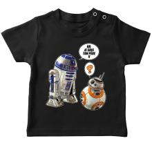 T-shirt bébé  parodique BB-8 et R2-D2 : BB, je suis ton père !! (Parodie )