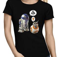 T-shirts Femmes  parodique BB-8 et R2-D2 : BB, je suis ton père !! (Parodie )