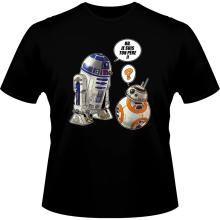 T-shirts  parodique BB-8 et R2-D2 : BB, je suis ton père !! (Parodie )