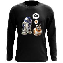 T-Shirt à manches longues  parodique BB-8 et R2-D2 : BB, je suis ton père !! (Parodie )