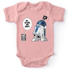 Body bébé (Filles)  parodique R2-D2 - Je suis ton père : Boîte de conserve ... (Parodie )