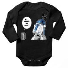 Body bébé manches longues  parodique R2-D2 - Je suis ton père : Boîte de conserve ... (Parodie )