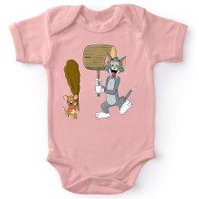 Body bébé (Filles)  parodique Itchy et Scratchy Vs Tom et Jerry : Chat et Souris Show :) (Parodie )