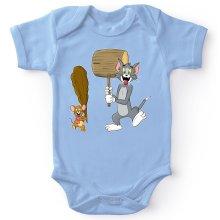 Body bébé  parodique Itchy et Scratchy Vs Tom et Jerry : Chat et Souris Show :) (Parodie )