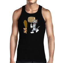 Débardeurs  parodique Itchy et Scratchy Vs Tom et Jerry : Chat et Souris Show :) (Parodie )