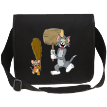 Sac bandoulière Canvas  parodique Itchy et Scratchy Vs Tom et Jerry : Chat et Souris Show :) (Parodie )