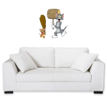Sticker Mural  parodique Itchy et Scratchy Vs Tom et Jerry : Chat et Souris Show :) (Parodie )