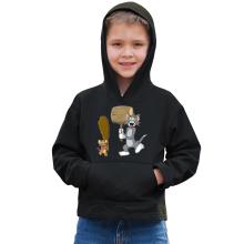 Sweat à capuche Enfant  parodique Itchy et Scratchy Vs Tom et Jerry : Chat et Souris Show :) (Parodie )
