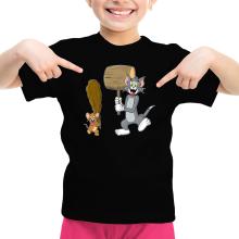 T-shirt Enfant Fille  parodique Itchy et Scratchy Vs Tom et Jerry : Chat et Souris Show :) (Parodie )