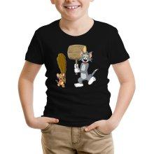 T-shirts  parodique Itchy et Scratchy Vs Tom et Jerry : Chat et Souris Show :) (Parodie )