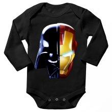 Body bébé manches longues  parodique Dark Vador, Iron Man et Daft Punk : Dark Punk - Get Darky :) (Parodie )