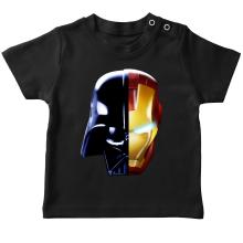 T-shirt bébé  parodique Dark Vador, Iron Man et Daft Punk : Dark Punk - Get Darky :) (Parodie )