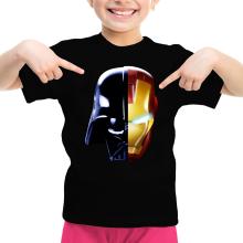 T-shirt Enfant Fille  parodique Dark Vador, Iron Man et Daft Punk : Dark Punk - Get Darky :) (Parodie )