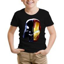 T-shirt Enfant  parodique Dark Vador, Iron Man et Daft Punk : Dark Punk - Get Darky :) (Parodie )
