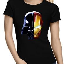 T-shirts Femmes  parodique Dark Vador, Iron Man et Daft Punk : Dark Punk - Get Darky :) (Parodie )