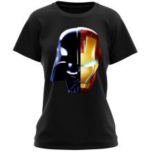 T-shirt Femme  parodique Dark Vador, Iron Man et Daft Punk : Dark Punk - Get Darky :) (Parodie )