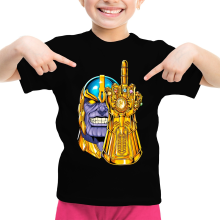 Funny  Girls Kids T-shirt - Thanos ( Parody) (Ref:1078)