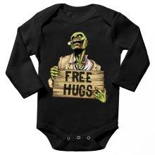 Body bébé manches longues  parodique Walking Dead Zombie - Free Hugs : Free Hugs - Zombie (Parodie )