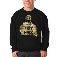 Pull Enfant  parodique Walking Dead Zombie - Free Hugs : Free Hugs - Zombie (Parodie )