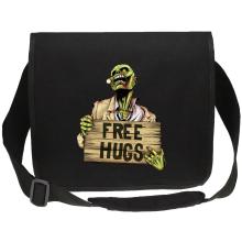 Sac bandoulière Canvas  parodique Walking Dead Zombie - Free Hugs : Free Hugs - Zombie (Parodie )