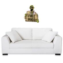Sticker Mural  parodique Walking Dead Zombie - Free Hugs : Free Hugs - Zombie (Parodie )