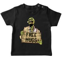 T-shirt bébé  parodique Walking Dead Zombie - Free Hugs : Free Hugs - Zombie (Parodie )