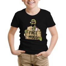 T-shirt Enfant  parodique Walking Dead Zombie - Free Hugs : Free Hugs - Zombie (Parodie )