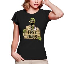 T-shirts Femmes  parodique Walking Dead Zombie - Free Hugs : Free Hugs - Zombie (Parodie )