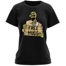 T-shirt Femme  parodique Walking Dead Zombie - Free Hugs : Free Hugs - Zombie (Parodie )