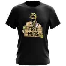 T-shirt  parodique Walking Dead Zombie - Free Hugs : Free Hugs - Zombie (Parodie )