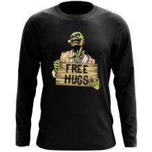 T-Shirt à manches longues  parodique Walking Dead Zombie - Free Hugs : Free Hugs - Zombie (Parodie )