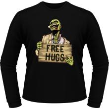 T-Shirts à manches longues  parodique Walking Dead Zombie - Free Hugs : Free Hugs - Zombie (Parodie )