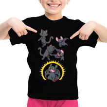 T-shirt Enfant Fille  parodique Krokmou : Fusion Nocturne... (Parodie )