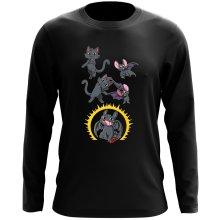 T-Shirt à manches longues  parodique Krokmou : Fusion Nocturne... (Parodie )