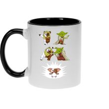 Mugs  parodique Yoda, un Ewok et Gizmo : Fusion !! YAHA !! (Parodie )