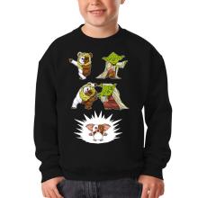 Sweat-shirts (French Days)  parodique Yoda, un Ewok et Gizmo : Fusion !! YAHA !! (Parodie )