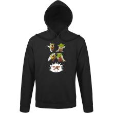 Sweats à capuche  parodique Yoda, un Ewok et Gizmo : Fusion !! YAHA !! (Parodie )
