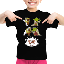 T-shirts (French Days)  parodique Yoda, un Ewok et Gizmo : Fusion !! YAHA !! (Parodie )