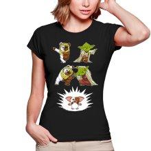 T-shirts Femmes  parodique Yoda, un Ewok et Gizmo : Fusion !! YAHA !! (Parodie )