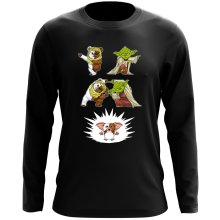 T-Shirt à manches longues  parodique Yoda, un Ewok et Gizmo : Fusion !! YAHA !! (Parodie )