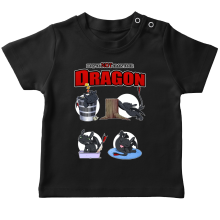 T-shirt bébé  parodique Krokmou : How to NOT train your Dragon (Parodie )