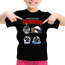 T-shirt Enfant Fille  parodique Krokmou : How to NOT train your Dragon (Parodie )