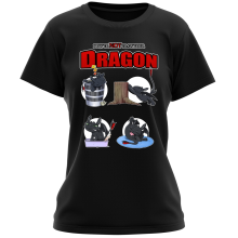 T-shirt Femme  parodique Krokmou : How to NOT train your Dragon (Parodie )