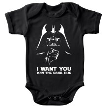 Body bébé  parodique Dark Vador se la joue Oncle Sam : I want You !! (Parodie )
