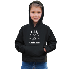 Sweat à capuche Enfant  parodique Dark Vador se la joue Oncle Sam : I want You !! (Parodie )