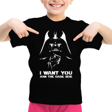 T-shirt Enfant Fille  parodique Dark Vador se la joue Oncle Sam : I want You !! (Parodie )