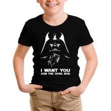 T-shirt Enfant  parodique Dark Vador se la joue Oncle Sam : I want You !! (Parodie )