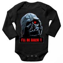Body bébé manches longues  parodique Dark Vador X Terminator : I