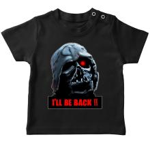T-shirt bébé  parodique Dark Vador X Terminator : I